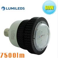 achat en gros de ampoules de gaz-320 Watt halogénures métalliques de remplacement station de gaz LED haute baie ampoules 60W E39 base bosses 5000K lumière du jour pur blanc AC100 ~ 277V