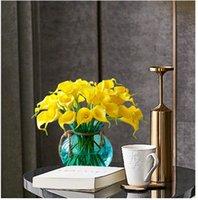 15 цветов старинные искусственные цветы 9 шт / много Мини-фиолетовый в белых букетах лилии Кале для свадебного оформления букета свадебных поддельных цветов