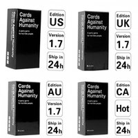Wholesale US CA UK AU Basic Edition Cards Against Game Cards Of Humanity White Cards Fantastic Card Game