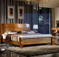 bedroom set antique wooden - Healthy and comfortable modern Chinese wooden bedroom furniture sets double bed Coating process for world top grade German system