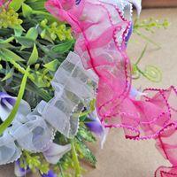 Wholesale 2cm Nylon organza Lace Fabric Decoration Ribbon Trim Dresses Lace for DIY White Rose Red Crochet Lace Fabric