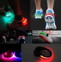 Wholesale LED Luminous Shoe Clip Night Light Running Sports New Cycling Safety Warning LED Bright Flash Light For Running Cycling Bike Christmas Light