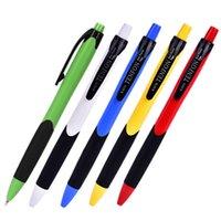 best ballpen - 50pcs Best Advertising ballpen mm blue business gift roller ball point pen for student stationery school supplies
