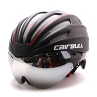 EPS aero helmet - Casco Ciclismo Latest Bicycle Cycling Helmet Short tail Time Trial Aero Track Bike With Glasses Ajustable one size CD03