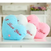 Wholesale Kawaii Lover Pillow Color Change Luminous Pillow with Led Light Soft Stuffed Animals Doll Toys for Children lover Gift