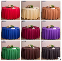 Wholesale New Solid Color Round Table Cloths Wedding Party Decorations Tables Runner Colorful Tablecloth Home Antependium CCA5973