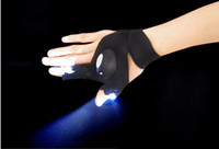 Wholesale Portable Energic and Sport Cycling Glove Glovelite with LED Light Cut Finger LED Fishing Flashlight Glove TV Program Recommeded Product