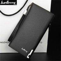 Cheap low price leather thin purse Men long wallet large zip around long clutch wallet Male clutch bag Cheap wallet buckle