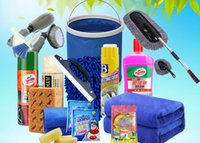 Wholesale Car cleaning supplies set cleaning supplies car wash tool car wash set combination household washing towel gloves