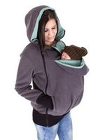 Wholesale Hot Sale Style Multi functional Kangaroo Baby Carrier Infant Comfortable Sling Pouch Hoodies Sweatshirts Women Coat Protect for Your Baby