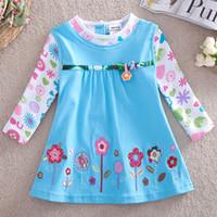 Wholesale Children sell of lovely ladies of the girls Girl s dresses for school Dresses kids girl Dresses for kids Girl s clothes Flowers print