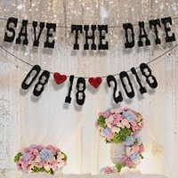 Wholesale Wedding Photography Props SAVE THE DATE Wedding Bunting Banner Photo Props Adult wedding party decorations Photo Booth Props Garland