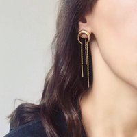 amazon earring - Europe and the United States contracted the moon curved women s alloy earrings Crescent tassel long earrings Amazon sell like hot cakes