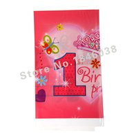 Wholesale Lovely cm disposable Birthday tablecloths st Pretty Girl kids happy birthday party plastic tablecover supplies