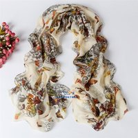 Wholesale Butterfly Print Summer Style Hijab Scarf Women Silk Scarf Cachecol Feminino Shawls And Scarves Lencos De Pescoco Bufandas