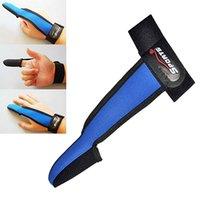 Wholesale Hotest Fishing Finger Stall Protection Adjustable Elastic Single Finger Casting Glove KM9