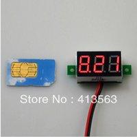 Wholesale inch miniature waterproof red voltmeter V two wire digital voltmeter head
