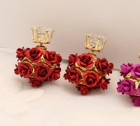 amber clip earrings - new hot selling star top quality girls women clip earrings rose flower alloy sterling silver fashion diamond