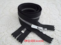 Wholesale ykk metal leather zipper cupronickel Excella silent grinding zipper cm zinc alloy by hand held the black zipper