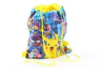Wholesale Pikachu Multifunctional Drawstring Bags Draw String Bag Pouch Poke Dolls Stuffed Toys Stuffed Animals Plush Buggy bag