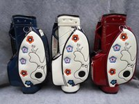 Wholesale Newest golf bag ladies MU golf bag embroidery mirror top grade golf ball bag high quality white navy red colors