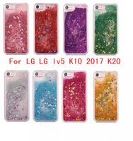 Wholesale For LG K20 PLUS lv5 stylus Stylo Stylo LS777 Quicksand Rhinestone Case Glitter Transparent Liquid TPU cover