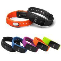 оптовых частота сердечных сокращений телефона-Fitbit ID107 смарт-браслеты с Heart Rate Fitness Activity Tracker Bluetooth 4.0 Smartband фитнес-браслет для IOS телефонов Android