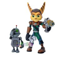 Wholesale PVC Ratchet and Clank Captain Qwark with Scrunch Action Figures Kids Toys For Gift Kids Toys A01X75