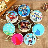 metal   DHL Cartoon Coin Bag Cartoon Toys Cute Wallet Bag Coin Purse Mini Candy Color Gift Cartoon Toys Children's Birthday Present Accessories