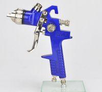 Wholesale Mini Gravity Air HVLP Spray Gun Nozzle1 mm ml Cup Paint Sprayer Airbrush Professional Painting Tool Kit