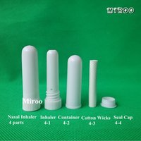 Wholesale sets Healthcare Branded New Vapor Blank Nasal Inhaler Sticks with High Quality Cotton Wicks for Essential Oil