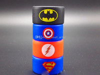 band superman - Vape Band Silicone Rings with Superman Batman Flash Captain America Logo Colorful Rubber Rings fit for RDA RTA Atomizer Mods Silicon Band