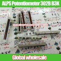 Wholesale ALPS mm Single joint Straight Slide Potentiometer B B3K with Tap Midpoint Shank Length MMC