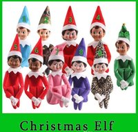 Wholesale 10 Style Christmas Elf Toys On The Shelf Elves Xmas Dolls For Kids Holiday And Christmas Gift DHL Free