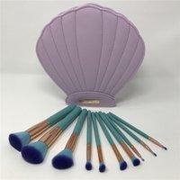 badger case - NEW Spectrum Brushes Mermaid Dreams Piece Vegan Brush Set Glam Clam Case Pink Color VS Hello kitty Brus