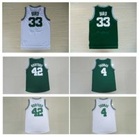 al sport - Top Quality Isaiah Thomas Al Horford Jersey Larry Bird Green White Sport New Rev Jerseys Embroidery Logo Throwback Jersey