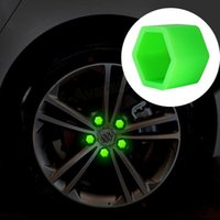 Wholesale Hot Car Styling Silica Gel Green Wheel Nuts Covers Protective Bolt Caps Hub Screw Protector mm mm mm EA10577