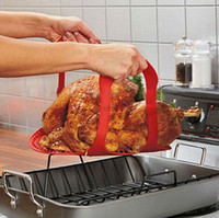 Wholesale Thanksgiving Silicone Roast and Turkey Lifter Helps You Lift Roasts Turkey Even Chicken Easily Without Getting Burnt Red Color