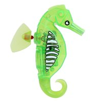Wholesale Cute Electric Hippocampus Toy Baby Kids Bathtub Playing Bathroom Toy Fun Bathing Showing Game Flashing Toy