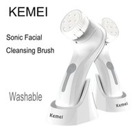 Wholesale KEMEI Electric Wash Face Cleanser brush Care Machine Facial Cleaner face Cleaning