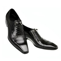 bella shoes - Christia Bella New High Quality Genuine Leather Men Shoes Square Toe Business Dress Shoes Oxfords For Men Lace Up Brogues Shoes