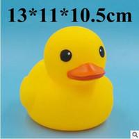 Wholesale Baby Bath Water Duck Toy Sounds Mini Yellow Ducks Bath Small Duck Toy Children Swiming Beach Gifts cm CCA5890