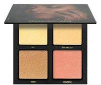 achat en gros de uae gros-2017 Vente en gros 4 couleurs Beauté Golden Pink Sands 3D Highlighter Palette Eyeshadow Palettes Livraison gratuite à AU NZ UAE