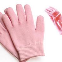 Wholesale pair pink color SPA gel repair skin beauty Moisturizing and anti hand crack gloves