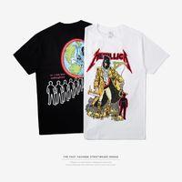 band dig - Mens metal rock band dig gold skull men s T shirt