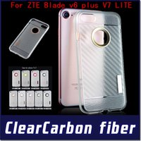 armor lite - For LG Tribute HD X style ls676 ZTE Blade v6 plus V7 LITE Armor TPU case clear Carber Fiber Cover with retail package