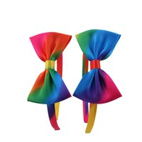 others assorted hair color - 12pcs Fashion Assorted Rainbow Colors Hair Bow Girls Hair Bands Solid Cute Robbon Bowknot Baby Girls Hair Sticks
