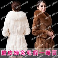 Women beaver women - Top quality Fashion Large fox fur collar the entire beaver rabbit skin fur coat kinds of style Rice white wine red green camel color