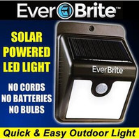Wholesale Solar Power Ever Brite LED Light Motion Activated LED Light Stick Up Sensor Lights Led Outdoor Light LJJC5715