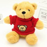 Chandail ours en peluche écharpe ours poupées jouets en peluche ours cache-coussin cadeau de mariage livraison gratuite